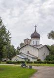 De Kerk van Sinterklaas, Pskov Stock Afbeeldingen