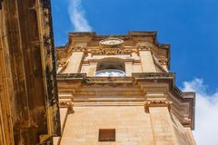 De Kerk van Sinterklaas in Siggiewi, Malta stock afbeelding