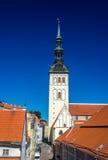De Kerk van Sinterklaas in Tallinn Stock Afbeelding