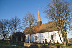 De kerk van Skjeberg Royalty-vrije Stock Foto's
