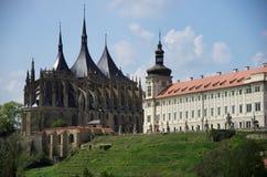 De Kerk van St. Barbara Stock Afbeeldingen