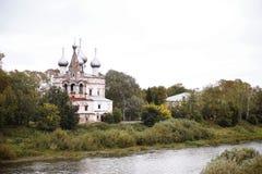 De kerk van St John Chrysostom Ioann Zlatoust in Vologda Stock Afbeelding