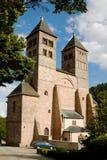 De kerk van St. Leger in abdij Murbach in Frankrijk Stock Afbeeldingen