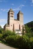 De kerk van St. Leger in abdij Murbach in Frankrijk Stock Fotografie