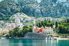 De Kerk van St Matthew, Dobrota, Montenegro stock foto