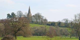 De kerk van St Nicholas Chellington Bedfordshire Stock Foto's