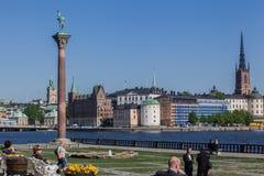 De Kerk van Stockholm Riddarholmen Stock Foto