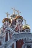 De kerk van Stroganov in Nizhniy Novgorod Stock Afbeeldingen