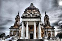 De Kerk van Superga - HDR Royalty-vrije Stock Foto
