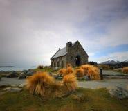 De Kerk van Tekapo van het meer Stock Foto's