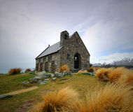 De Kerk van Tekapo van het meer stock foto