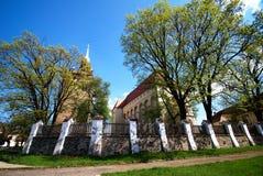 De kerk van Transylvanian van Saschiz, Roemenië Stock Afbeeldingen