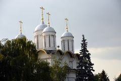 De Kerk van twaalf Apostelen Architectuur van Moskou het Kremlin De Plaats van de Erfenis van de Wereld van Unesco stock fotografie