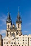 De kerk van Tyn in Praag Stock Foto's