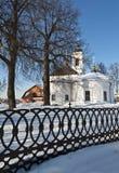 Russische kerk, de wintertijd Royalty-vrije Stock Fotografie