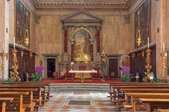 De kerk van Venetië - Chiesa Di San Trovaso Royalty-vrije Stock Foto's