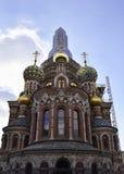 De kerk van de Verlosser op Gemorst Bloed stock foto
