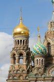 De kerk van de Verlosser op Gemorst Bloed Royalty-vrije Stock Foto's