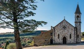 De Kerk van Vernazzano - Tuoro sul Trasimeno, U stock foto