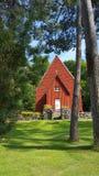 De kerk van Vikingen in Zweden royalty-vrije stock afbeeldingen