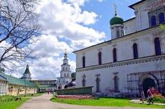 De kerk van Voskesensky in het Nieuwe klooster van Jeruzalem Stock Fotografie