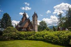 De Kerk van Wang in Karpacz royalty-vrije stock afbeelding
