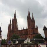 de kerk van Wiesbaden Stock Fotografie