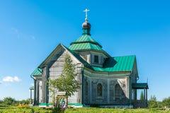 De Kerk van Zosima en Savvatia stock fotografie