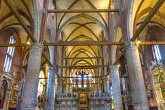 De Kerk Venetië Italië van Mary Painting Santa Maria Frari van de Titianveronderstelling stock afbeeldingen
