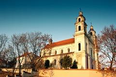 De Kerk Vilnius van de aartsengel Stock Foto
