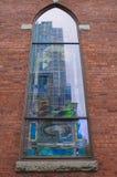 De kerk wijst op Stad Royalty-vrije Stock Foto