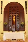 De kerkbinnenland van de Dominicaanse Republiek Stock Foto