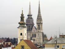 De kerken van Zagreb Stock Fotografie