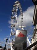 De Kerker van London Eye en van Londen royalty-vrije stock afbeelding