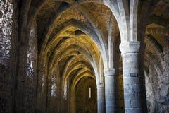De kerkers van Chateau DE Chillon Stock Foto