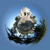 De kerkplaneet van Pietrelcina   Stock Afbeeldingen