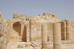De kerkruïnes van Avdat, Israël Royalty-vrije Stock Afbeeldingen