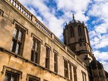 De Kerkuniversiteit van Christus, de Universiteit van Oxford stock foto