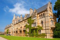 De Kerkuniversiteit van Christus. Oxford, het UK Royalty-vrije Stock Foto's