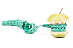 De kern en de meter van Apple Stock Afbeeldingen