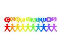De kern taxeert Document de Regenboog van de Mensentoespraak Stock Afbeelding