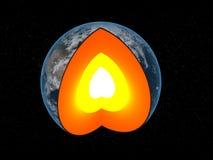 De kern van de aarde Stock Fotografie