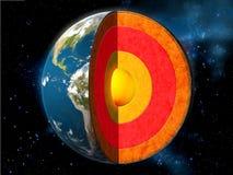 De kern van de aarde Stock Foto's