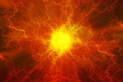 De kern van de energiemacht Stock Foto's