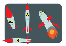 De kern vectorillustratie van de vernietigingsatoombom Stock Foto
