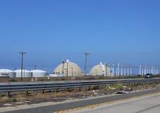 De Kernenergieinstallatie van San Onofre Stock Foto's