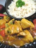 De kerrie en de rijst van de kip Royalty-vrije Stock Fotografie