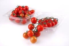 De kers van de tomaat in doos Royalty-vrije Stock Foto