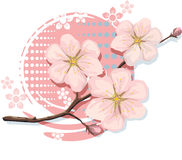 De Kers van Sakura van Bloosom met inbegrip van VectorFormaat Royalty-vrije Stock Foto