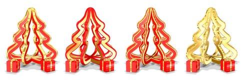 De kerstbomen met stelt voor stock illustratie